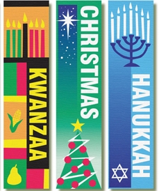 Holiday banners illustration