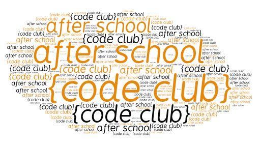 after school code club word cloud