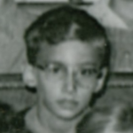 Young boy, in black and white