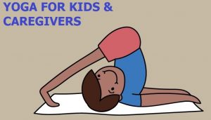 cartoon child in yoga pose