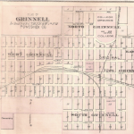 Map of 1880s Grinnell