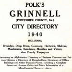 Title page of 1940 City Directory