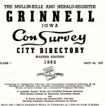 Title page of 1962 City Directory