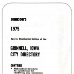 Title page of 1975 Grinnell City Directory