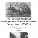 Screenshot of the title page with 2 images, both of black and white houses